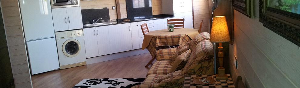 Casa rural en Anento Zaragoza Salon-cocina